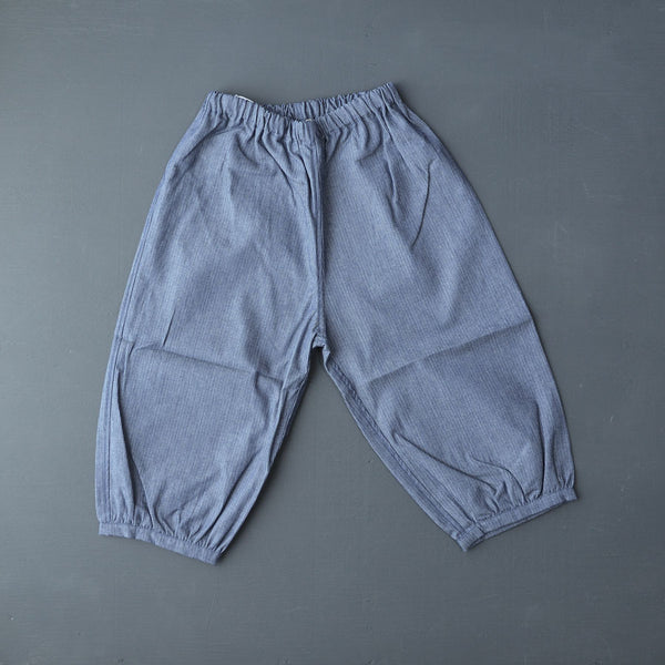 Bubble Pants in Pima Cotton - Denim Pinstripe (6m-8y)