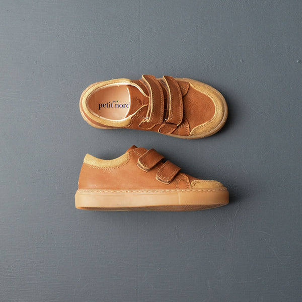 Unisex Low Sneakers - Cognac (26-35)