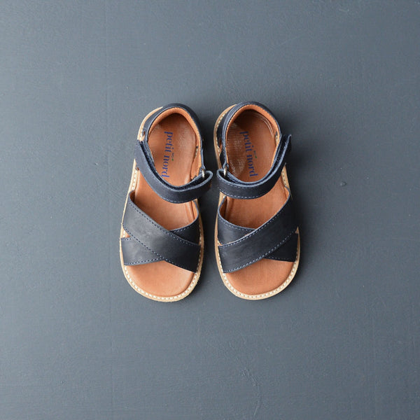 Unisex Cross Over Sandals - Navy (27-34)