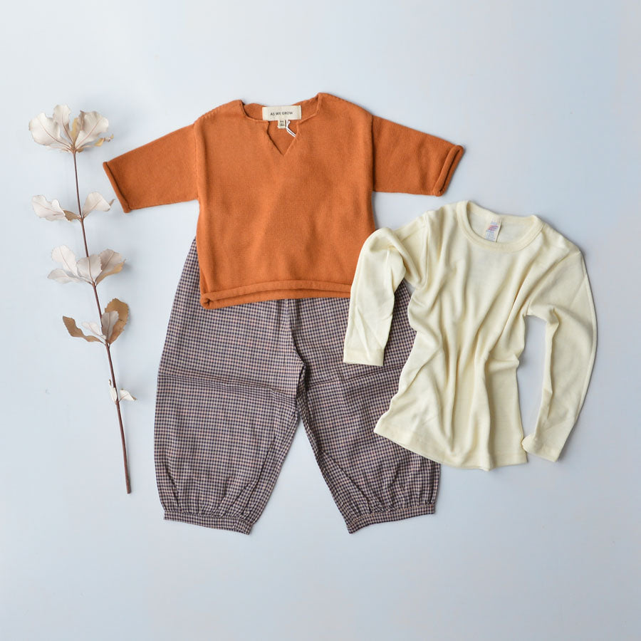 Child's Merino Wool & Silk Thermals/PJs - Top (1-12y)