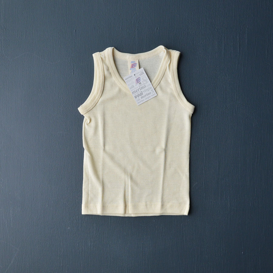 Engel Child's Sleeveless Vest in Wool/Silk - Woollykins, Australia