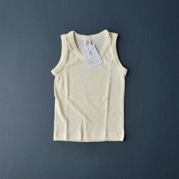 Child's Sleeveless Vest in Wool/Silk (1-12y)