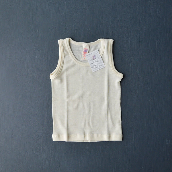 Child's Sleeveless Vest in 100% Organic Wool - Woollykins, Australia