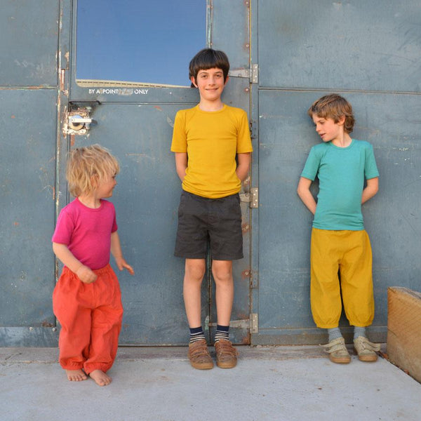Child's Merino/Silk T-Shirt - Solid Colours (9-10y only)