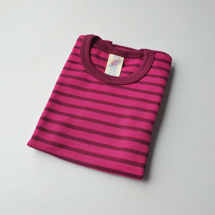 Child's Merino/Silk T-Shirt - Stripes (1-12y)