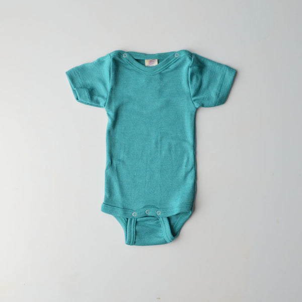 Engel, Baby Body Short Sleeve in Merino/Silk - Woollykins, Australia