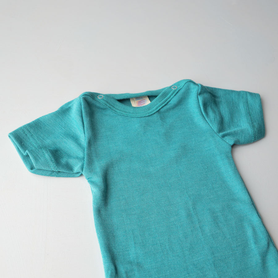 Baby Body Short Sleeve in Merino/Silk - Colours (0-3y)