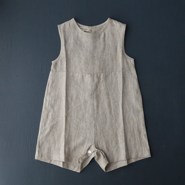 As We Grow, Sibling Overall 100% Linen - Natural - Woollkyins, Australia