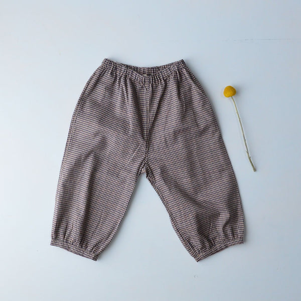 As We Grow, Iceland, Bubble Pants in Pima Cotton - Gingham - Woollykins, Australia