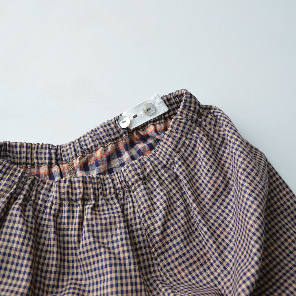 Bubble Pants in Pima Cotton - Gingham (3-8y)