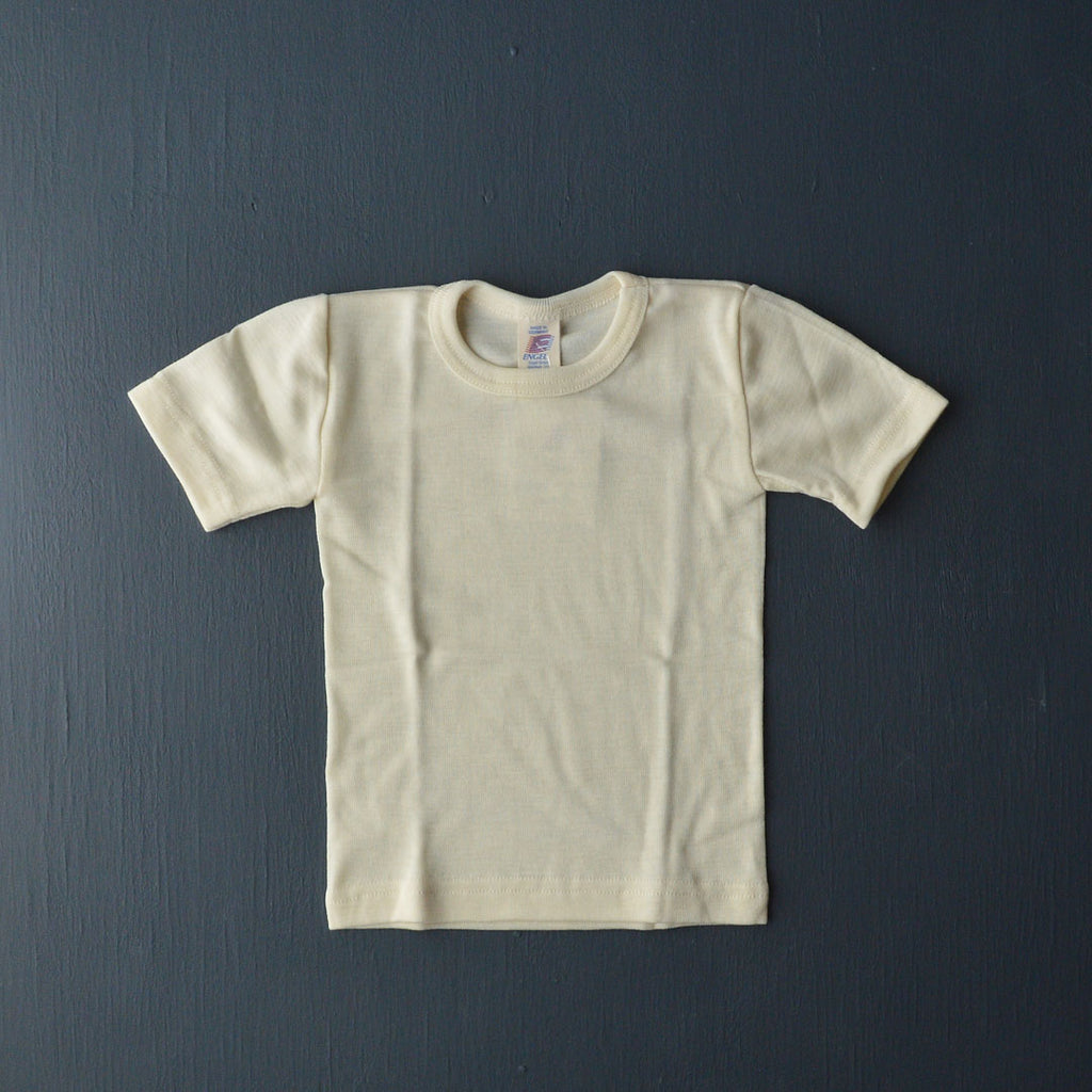 Child's Merino/Silk T-shirt - Natural (1-12y)