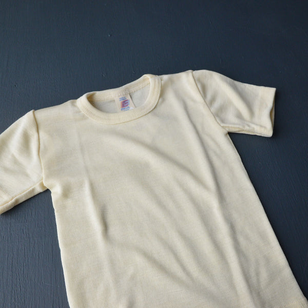 Engel Child's Merino/Silk T-shirt - Natural - Woollykins