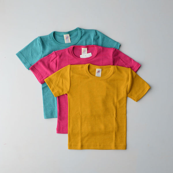 Child's Merino/Silk T-Shirt - Solid Colours (1-12y)