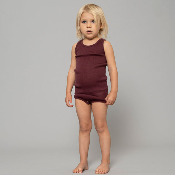 Baby Sleeveless Merino Bodysuit (0-3y)