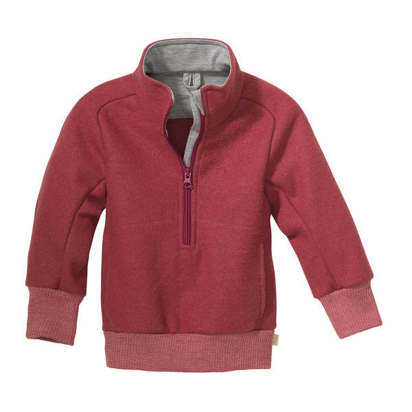 Boiled Wool Half-Zip Sweater (1-8y)