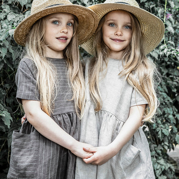 As We Grow, Pocket Dress in 100% Linen - Woollykins, Australia