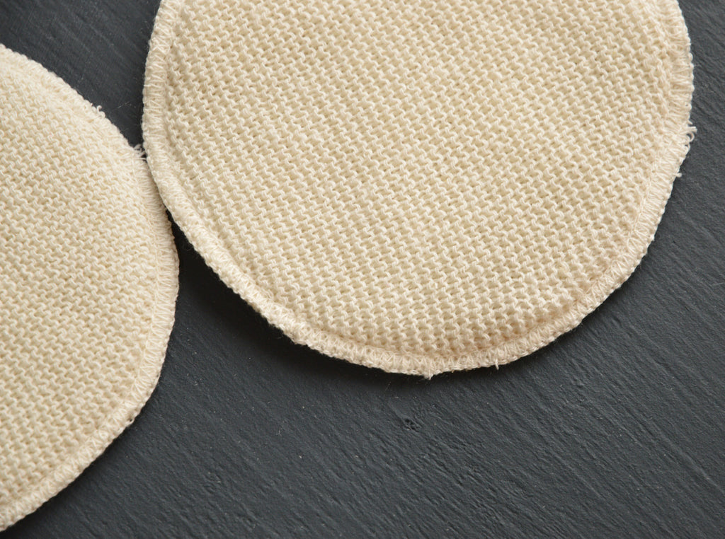 Breast Pads in 3 layers of Silk/Wool/Silk