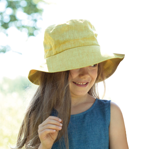 Linen Wide Brim Hat (4-12y+)