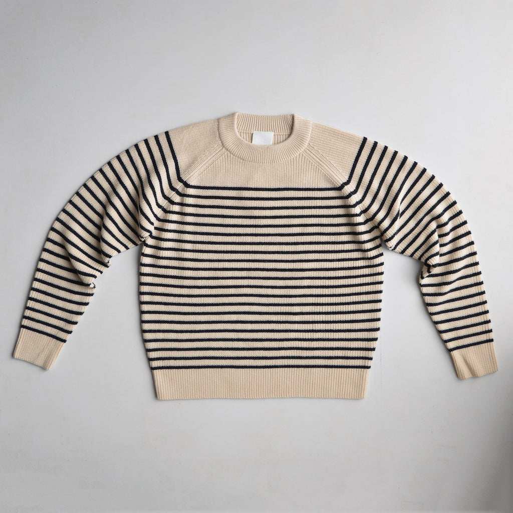 Chunky Sweater - Ecru Stripe