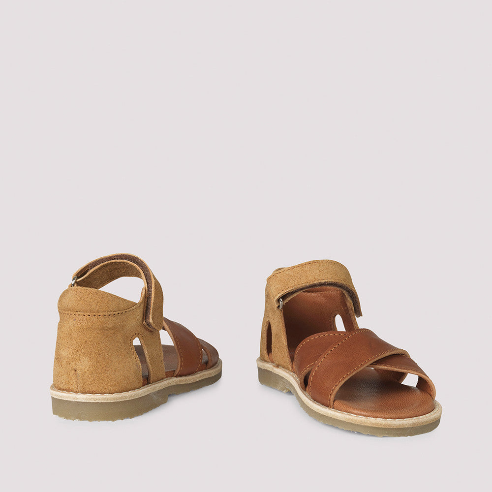 Unisex Cross Over Sandals - Bourbon (24-34)