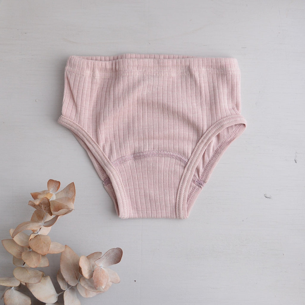Girls Briefs in Organic Cotton/Wool/Silk (2-10 years)
