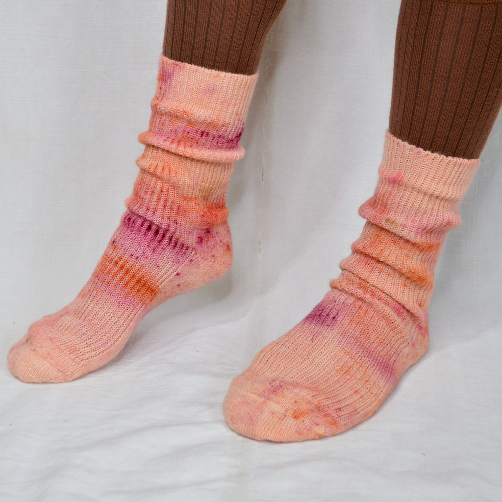 Plant Dyed Organic Wool Socks - Speckle Series (36-43)