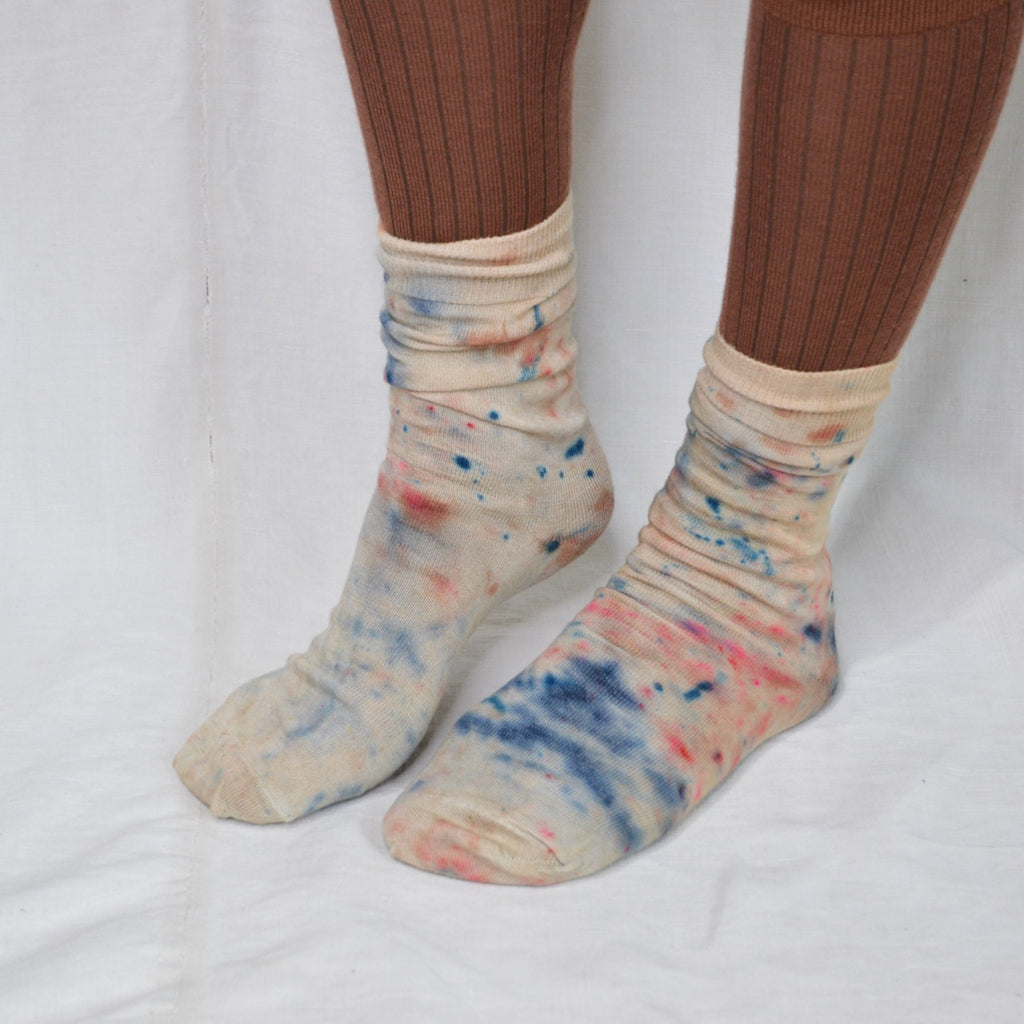 The Painter's Socks - Plant Dyed Fine Wool Socks (35-43)