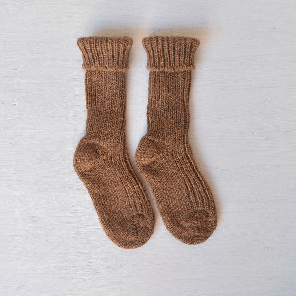 Hirsch Natur Natural Camel Wool Baby Socks from Woollykins Australia