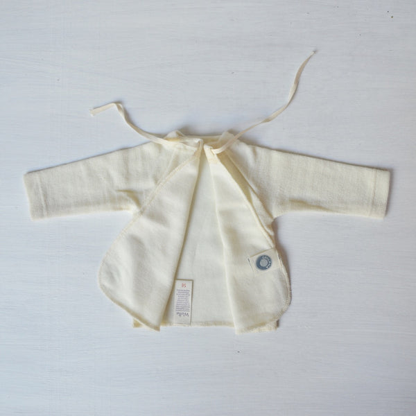 Newborn Merino/Silk Wrap Gown 0-6m