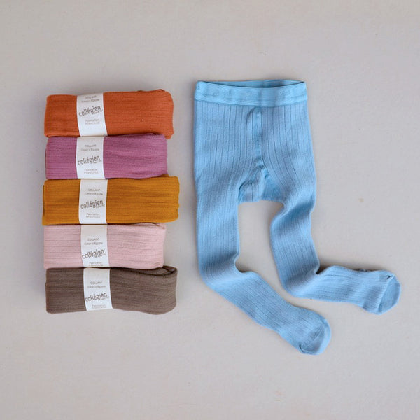 Ribbed Tights in Long Fibre Egyptian Cotton (1-10y)