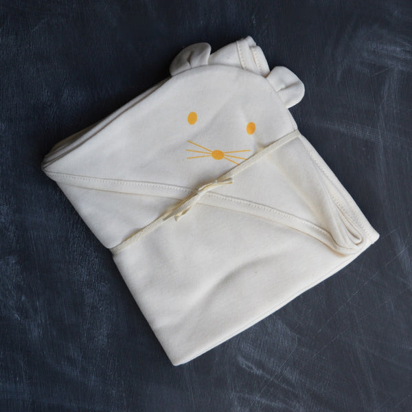 Hooded Blanket in Organic Cotton
