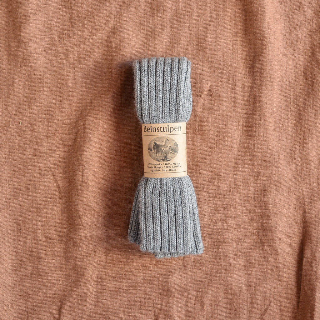 Ribbed Legwarmers in 100% Baby Alpaca