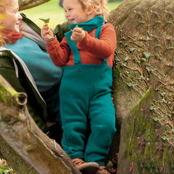 Boiled Wool Dungarees (1-8y)