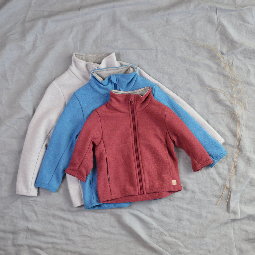Light Boiled Merino Wool Zipper Jacket (6m-8y)