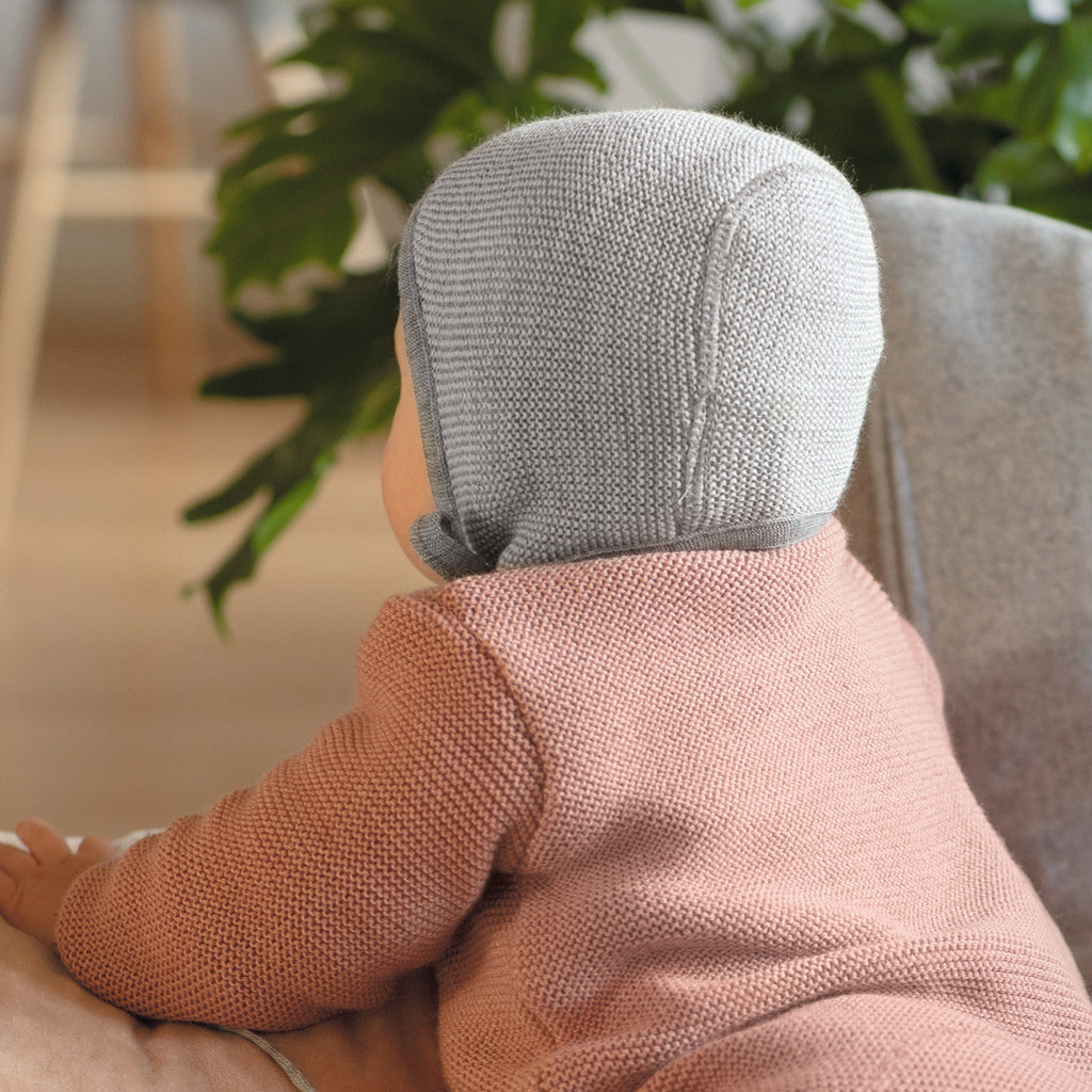 Bonnet in Organic Merino Wool (0-12m)