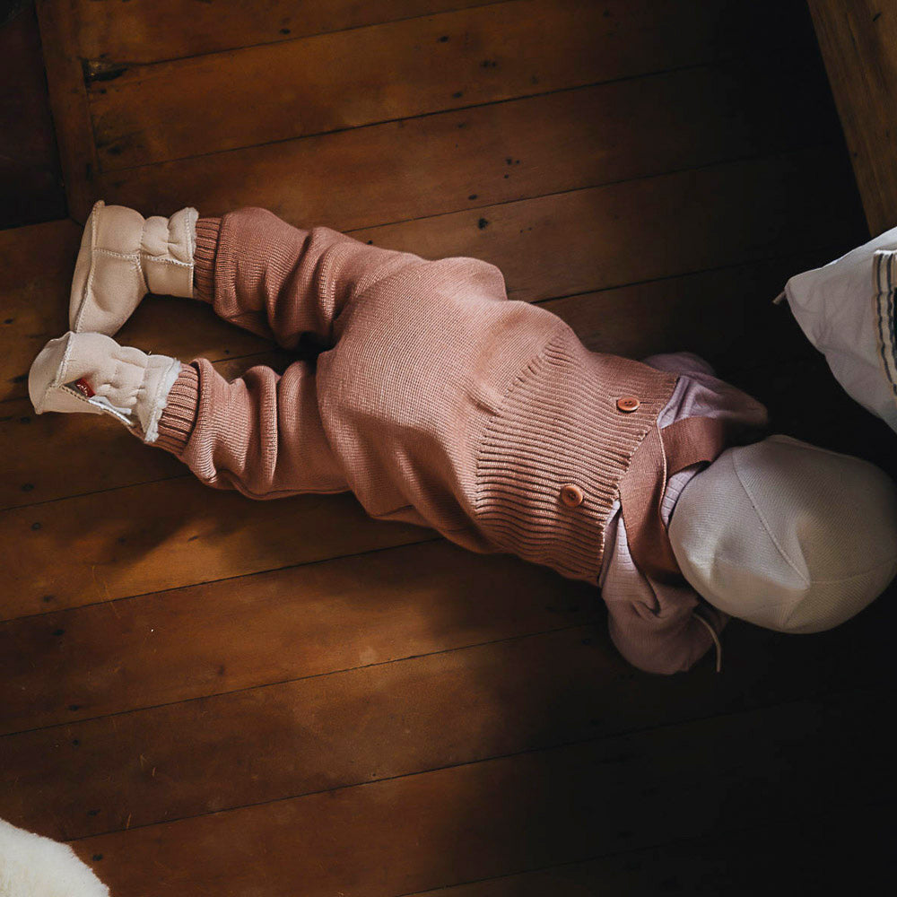 AW19 Knitted Dungarees in Organic Merino Wool (0-3y) 8 colours!