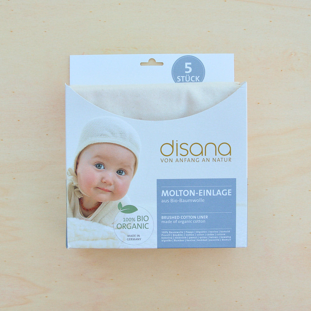 Disana, Brushed Cotton Liners (5 pack), Woollykins - Australia