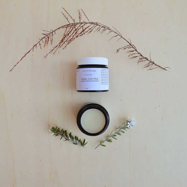 Tiny Tot, Handmade in Castlemaine, Herbal Chest Rub for Baby, Woollykins - Australia