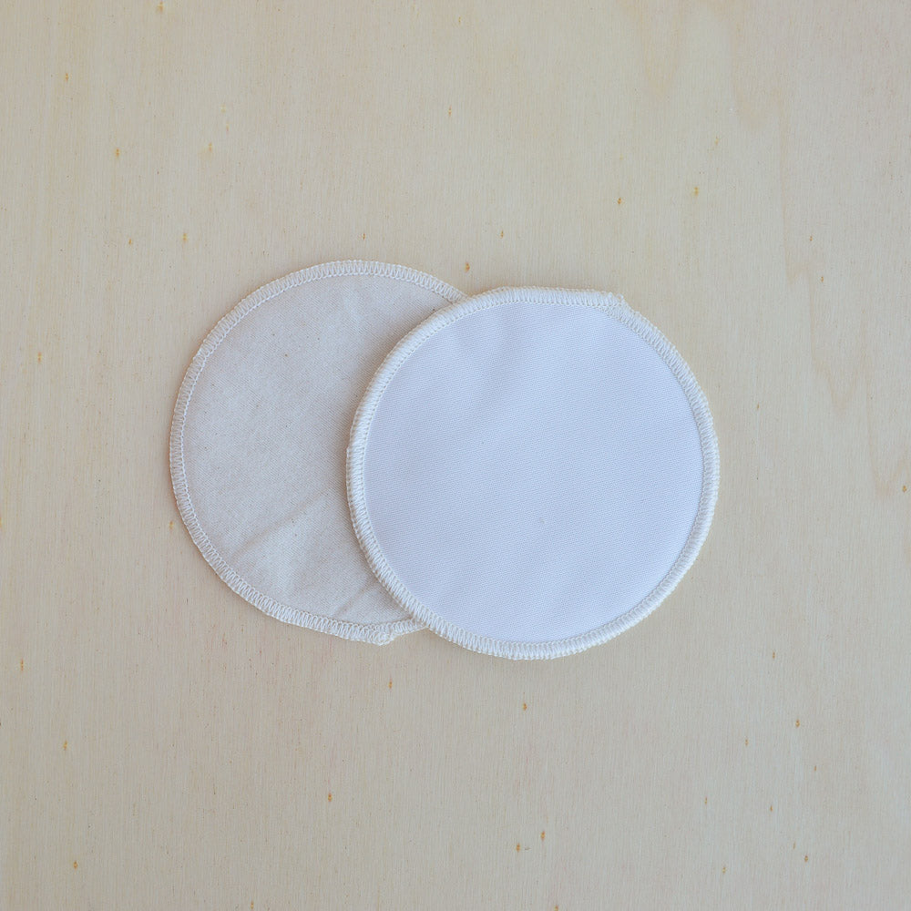 Disana, Breast Pads in Organic Cotton with microfibre waterproof outer, Woollykins - Australia
