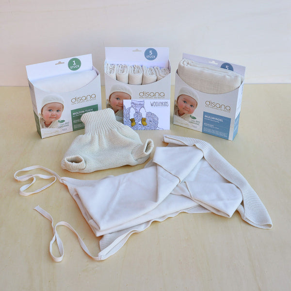 Trial Disana Nappy Pack Super+ for Nights/Heavy Wetters, Woollykins - Australia