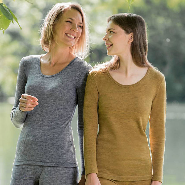 Women's 100% Organic Merino Wool Longsleeved Top