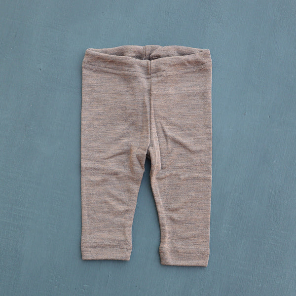 Engel, Baby Leggings in Wool / Silk Walnut - Woollykins, Australia