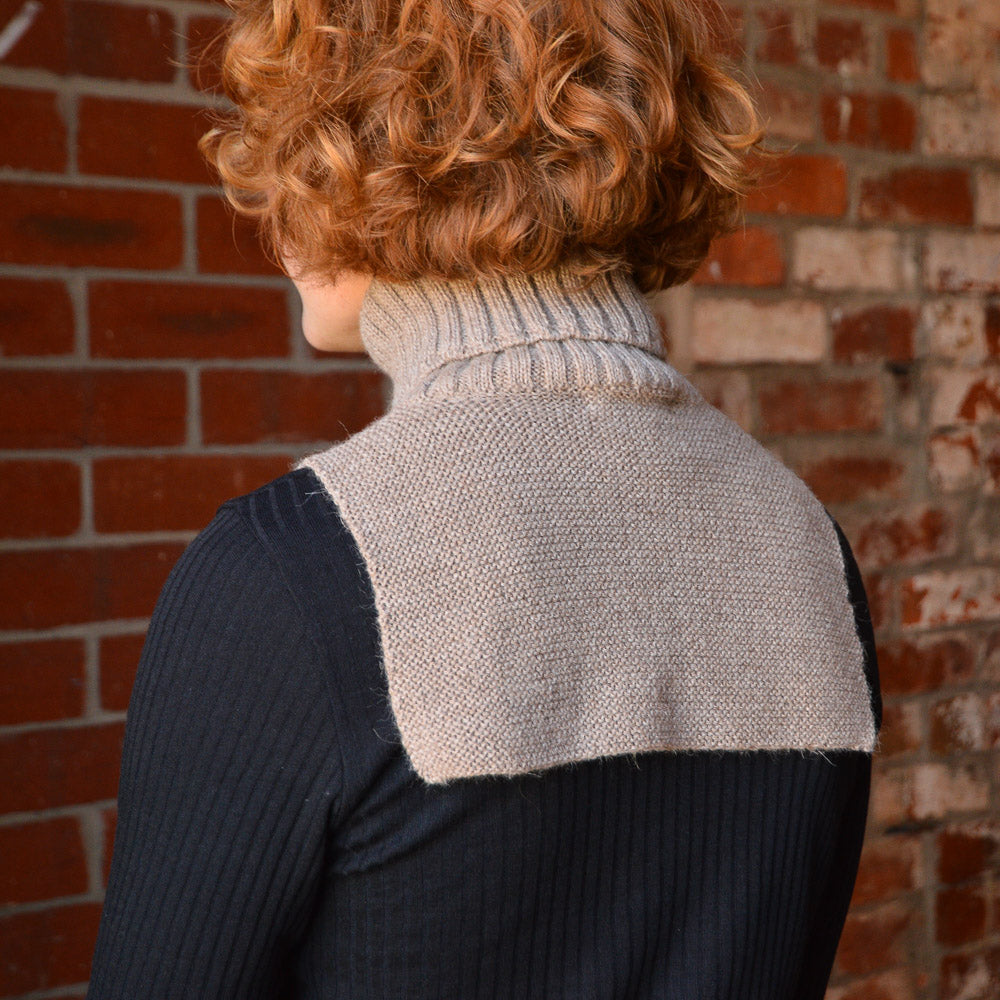 Turtle Neck & Chest Warmer in Organic Baby Alpaca (2y-Adult)