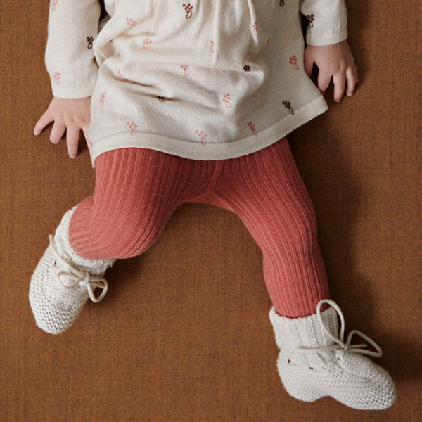 Merino Wool Rib Tights (9-18m left)