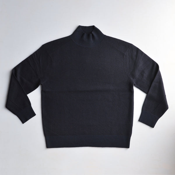 Women's Oversize Felted Jumper - Dark Navy