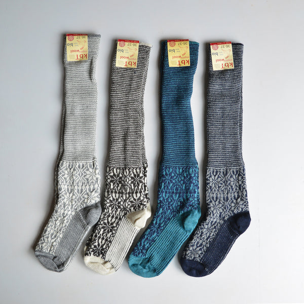 Kneehigh Hygge Fairisle Socks (adults) 100% wool (36-41)