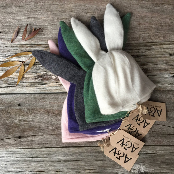 Rabbit Hat 100% Cashmere (0-3yrs) *Reduced Further*