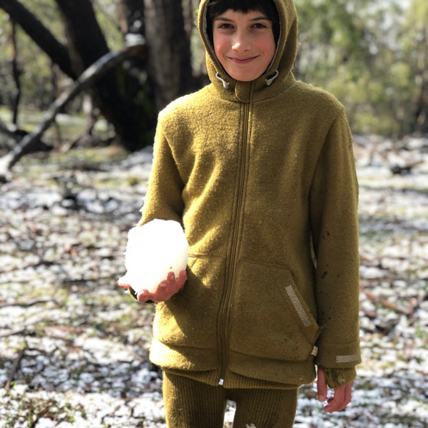 Disana Boiled Wool Kids Outdoor Adventurer's Jacket - Woollykins, Australia