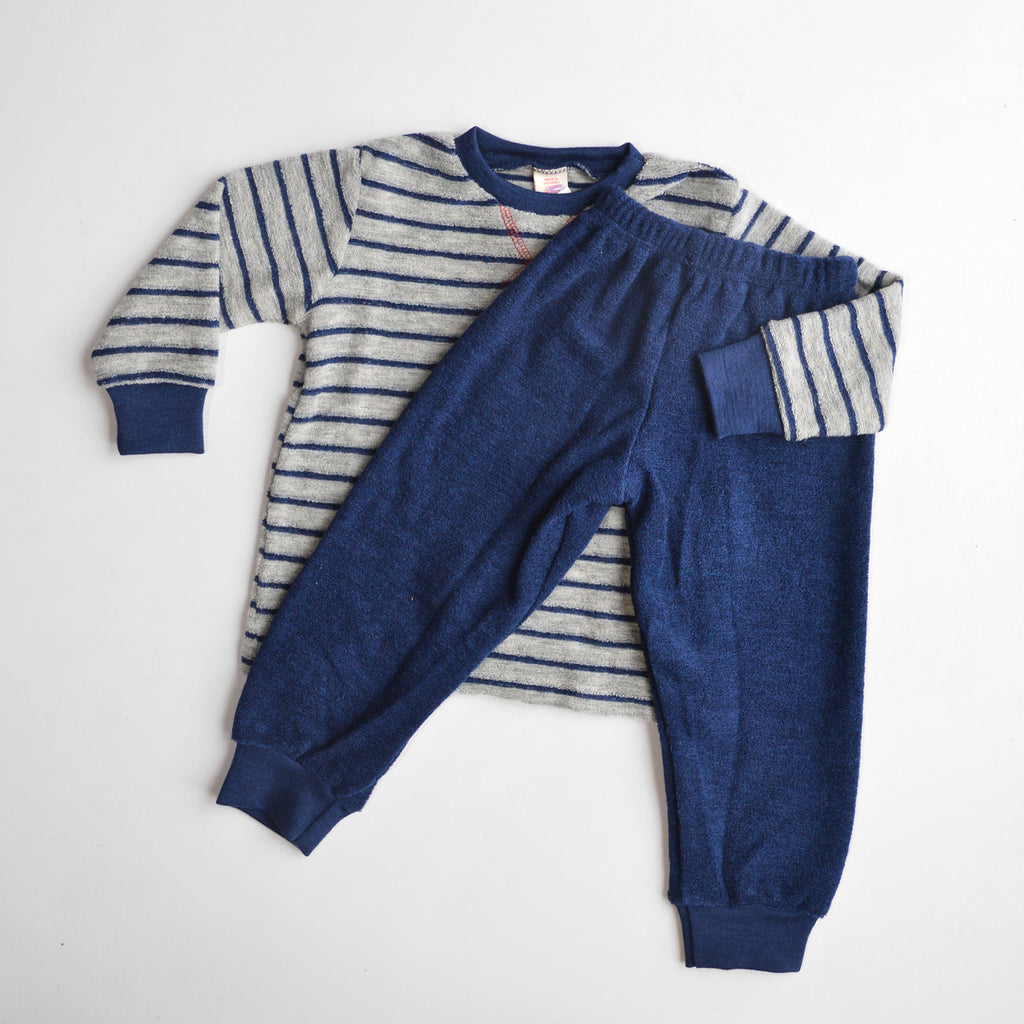 Child's Super Deluxe PJ SET - 100% Organic Merino French Terry (1-12y)