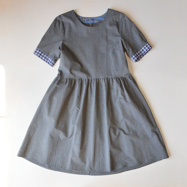 Kirsten Dress in Poplin Stripe - Hemp/Organic Cotton (Women's M-L) *Last One!